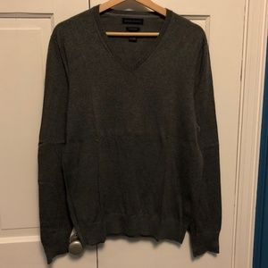 Banana Republic Charcoal Gray V-Neck Sweater